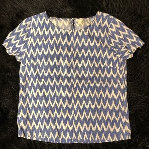 J. Crew Chevron Linen Top